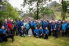 Cockermouth Mountain Rescue Team members past and present attend a memorial event at Buttermere to honour two colleagues killed during a training exercise 50 years ago