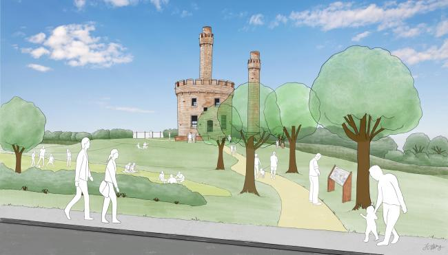 VISION: An artist's impression of what the completed Jane Pit memorial in Workington could look like