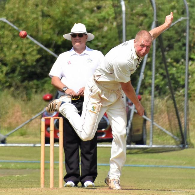 David Rooney: Took an excellent 6-30 for Cleator Cricket Club, as Cumbria Cricket League Premier Division leaders Furness were skittled out for just 82 (Photo: Ben Challis)