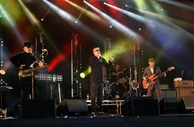 Madness in concert at Carlisle Racecourse in July 2015