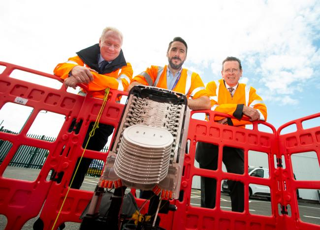 Paul Cretney, Partnership Manager. Michael Shemilt, Openreach Learning and Development trainer. Jonathan Harris, Senior Programme Manager, Connecting Cumbria.