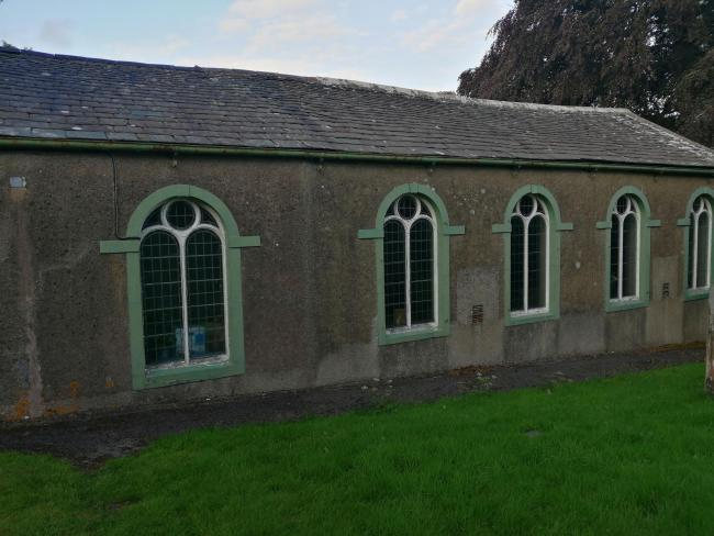 Little Broughton Methodist Church was the target of the yobs' attack