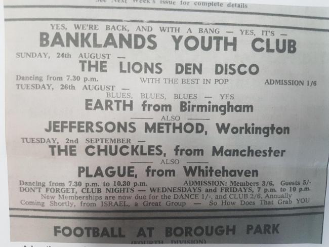 n Formerly known as Earth, Black Sabbath played the Banklands Youth Club alongside local bands
