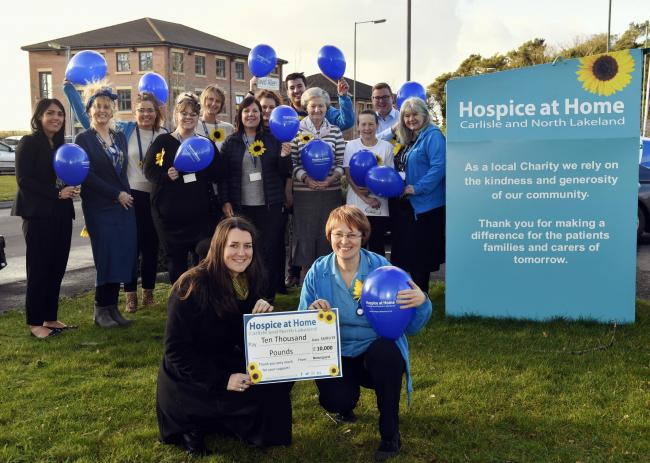 The Gannett Foundation last year awarded Hospice at Home Carlisle and North Lakeland £10,000