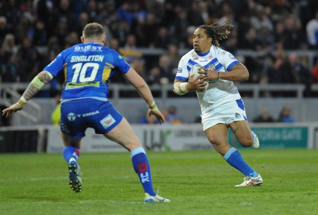n Fuifui Moimoi – who re-signed for Workington this week – in action for Town at Leeds Rhinos in last season's Challenge Cup fifth-round clash	             RICHARD LAND