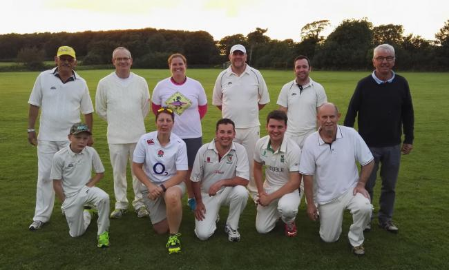 Members of Tallentire Cricket Club who have got a four-figure grant