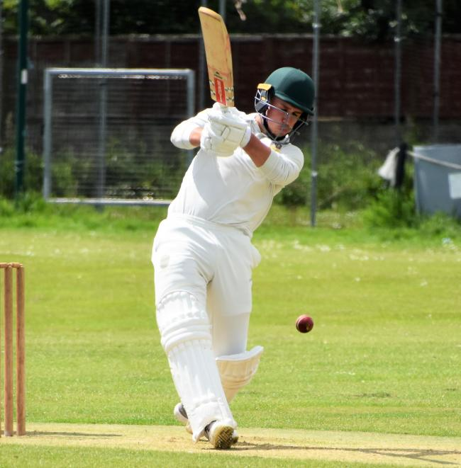 Star man: Matt Sempill led Cockermouth Cricket Club to their County Cup success over Cleator at Wigton on Sunday (Photo: Ben Challis)