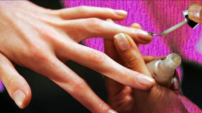 Nail varnish: 'Oh the things we women do for just a fleeting moment of happiness' Picture: AP