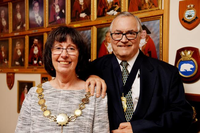 Janet King, mayor of Workington, and her husband David, who passed away last week. Picture: Tom Kay