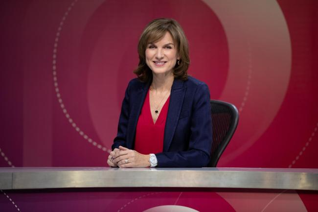Fiona Bruce as host of Question Time