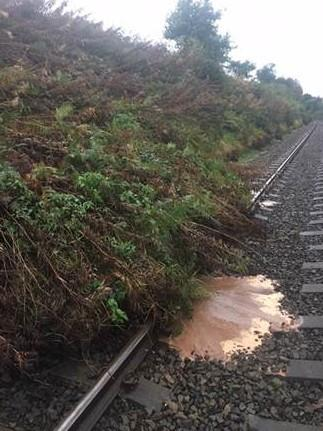 Landslip at Wetherall is causing rail disruption. PICTURE: Northern