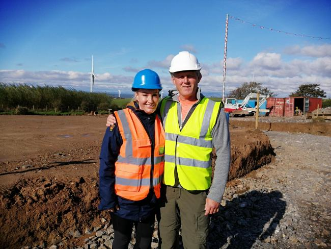 Lisa and Mark Hodgson at The Woodlands site which will have 41 self-build spacious detached houses