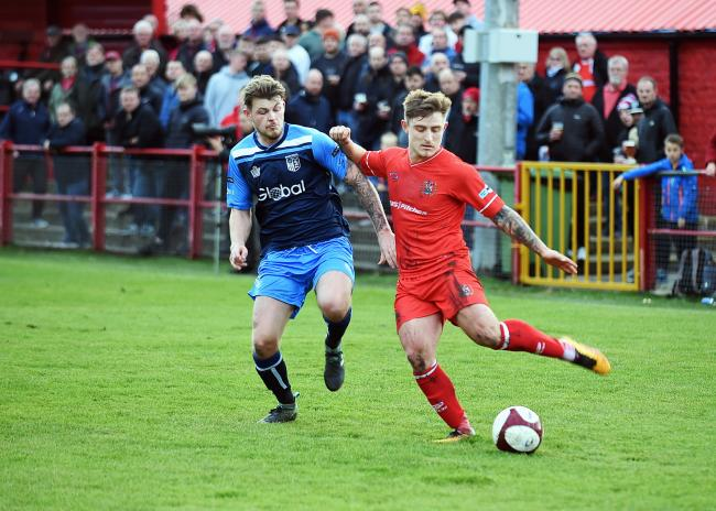 ATTACK: Winger Dav Symington driving forward in Reds' last home game 		           Picture: Mike McKenzie