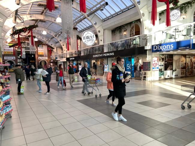 Black Friday shoppers at Dunmail Park Shopping Centre, Workington
