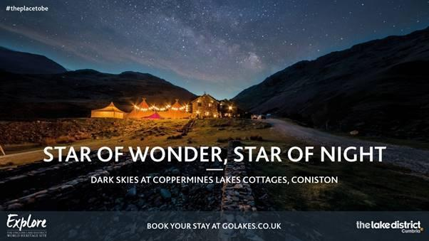 A poster designed by Cumbria Tourism as part of its campaign to attract winter visitors.
