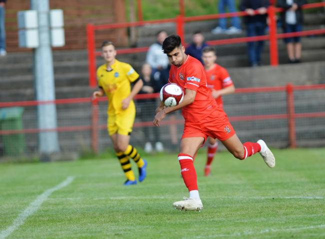 CLINICAL: Nathan Waterston is Reds' top scorer so far this season with 11 goals in all competitions	 TOM KAY