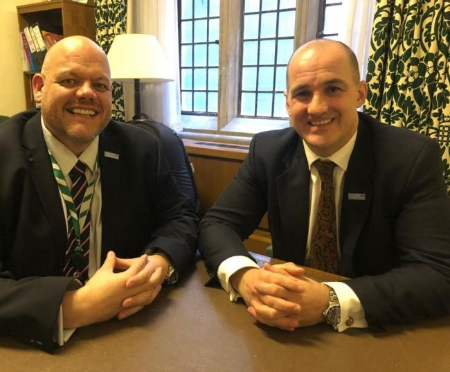 n Workington MP Mark Jenkinson with Northern Powerhouse minister Jake Berry