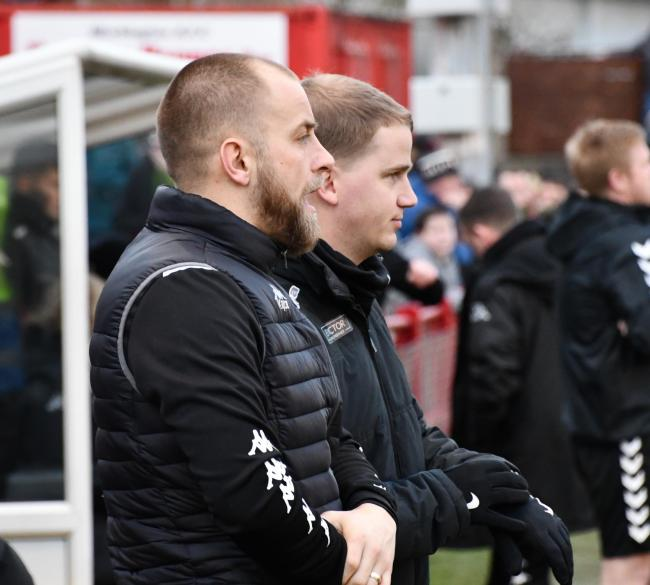 Reds manager Danny Grainger and assistant Steve Rudd. Picture: Ben Challis