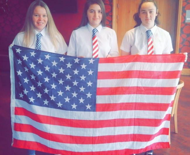 Alice Rush, Millie Crellin and Keeley Chatters - three Workington Reds Diamonds young girls players who have been scouted to go to the USA to play and study SUBMITTED PIC