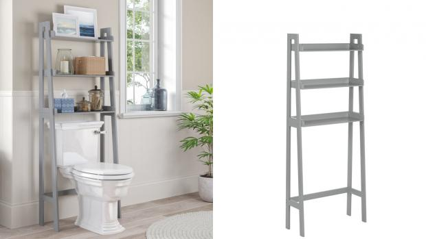 Times and Star: Over-the-toilet units provide a lot more storage space. Credit: Wayfair