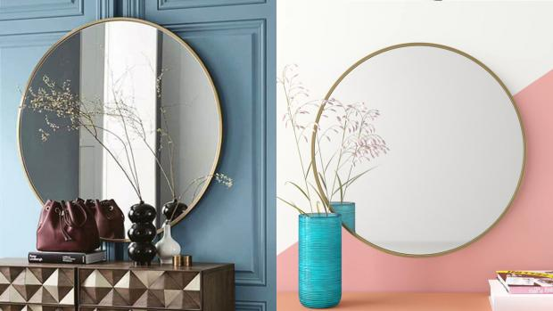 Times and Star: A bigger, more modern mirror will create the illusion of more space. Credit: Wayfair