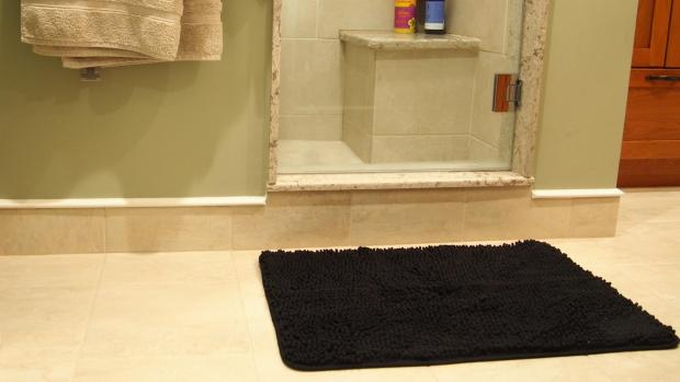 Times and Star: A stylish bath mat can brighten up your space. Credit: Reviewed / Kori Perten