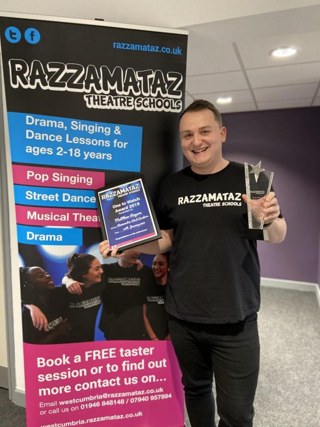 Principal of Razzamataz West Cumbria Matty Aitchison-Rayson
