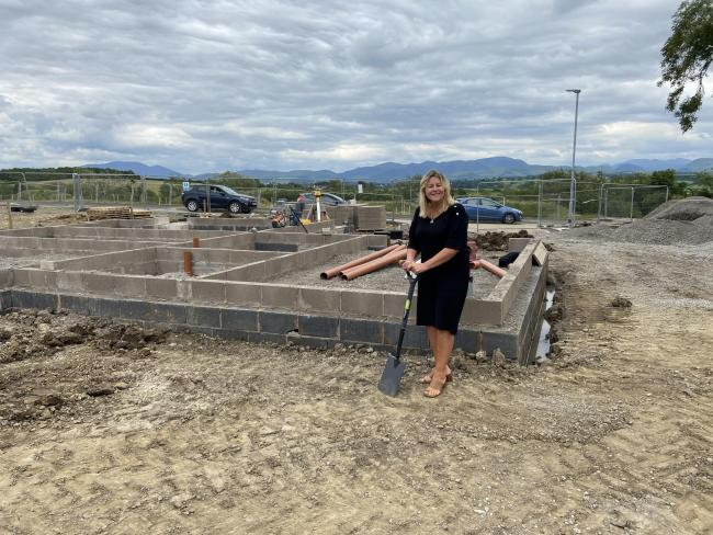Anne at the site near Cockermouth which is expected to be fully built later this year