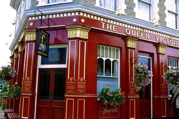 The Queen Vic is opening for business again as EastEnders returns. Picture: BBC