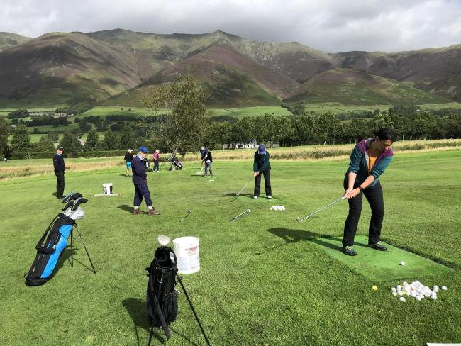 Golfers work on their technique at one of Keswick Golf Club's practise sessions					    Picture: Keswick Golf Club