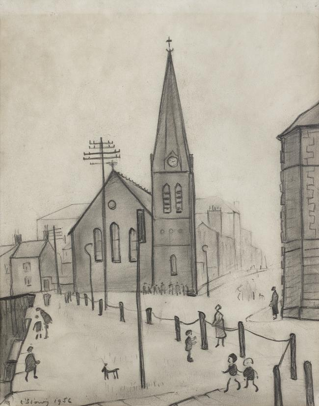 SOLD: The Old Quay, Maryport (1956) by LS Lowry