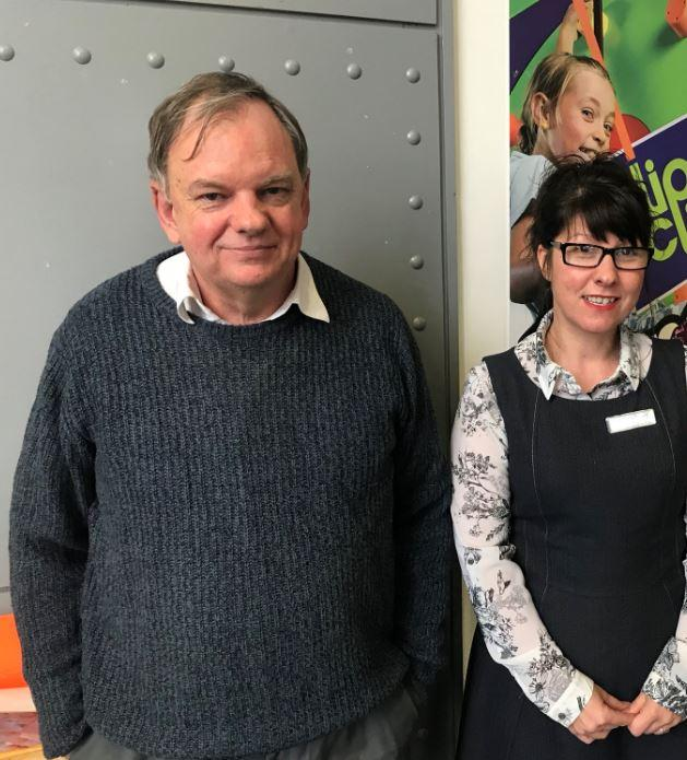 Autism consultant Geoff Evans and Nichola McDougall from Owl Blue