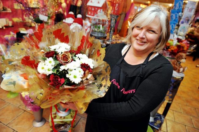 Current owner of Fearon Flowers, Julie Carruthers Pic Paul Johnson