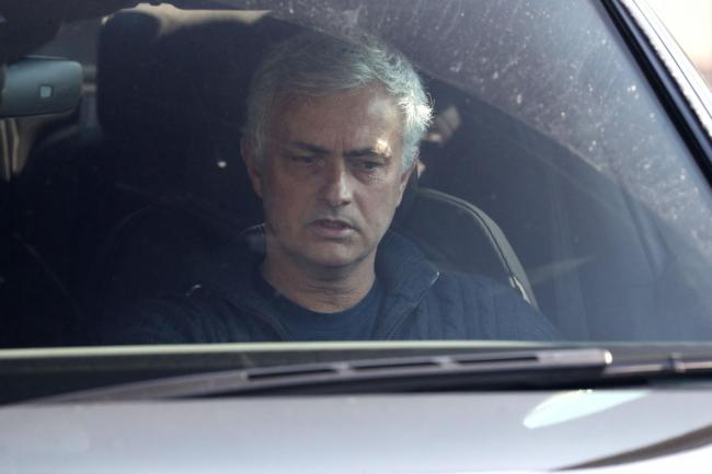 Jose Mourinho leaves Tottenham's training ground