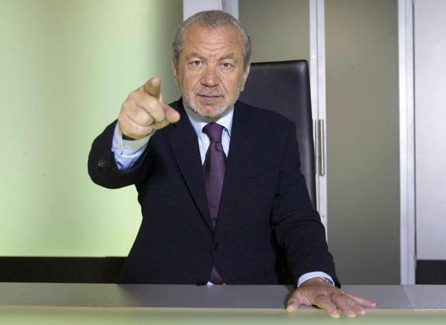 The Apprentice: Lord Sugar on the lookout for new business partner. Picture BBC/PA
