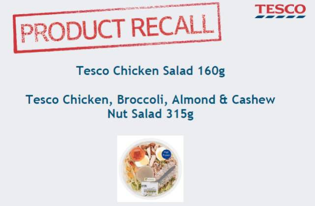 Tesco Issues Urgent Product Recall Amid Food Poisoning Fears Times
