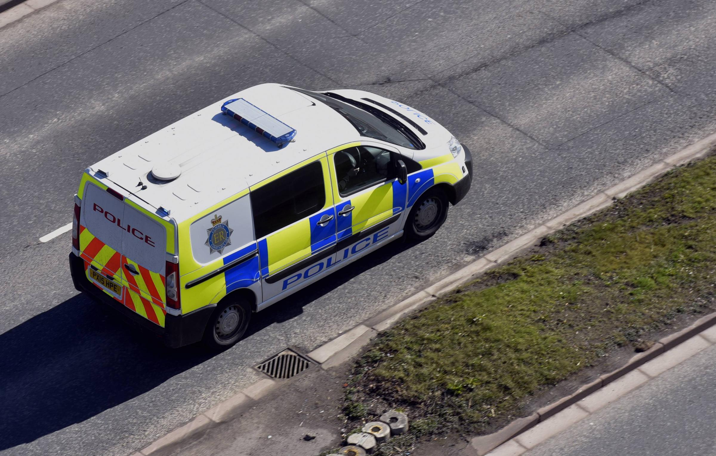Generic Police van driving along road: 5 April 2018..STUART WALKER.