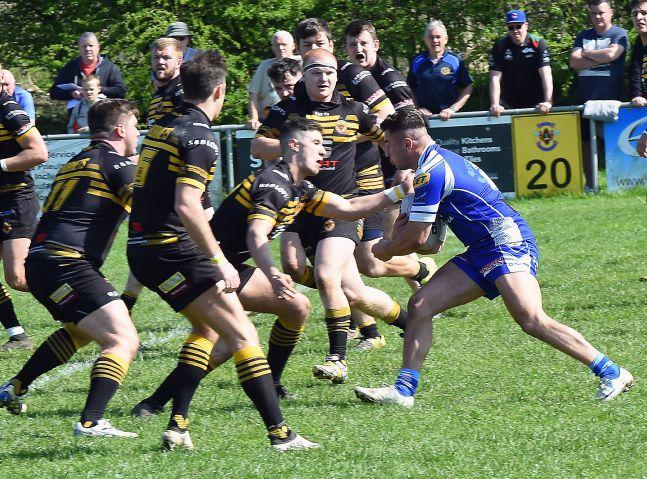 Egremont's Matthew Hutchins: Crossed on the hour against Underbank Rangers (Photo: John Story)
