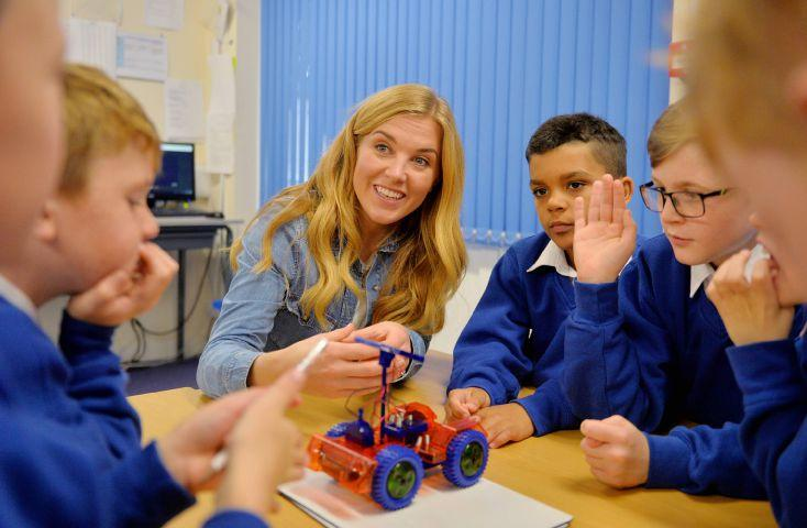Cbeebies Maddie Moate Visits Workington School Times And Star
