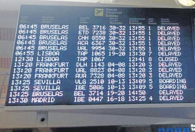 Delays at Bilbao airport