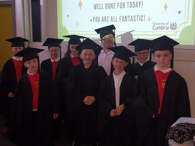 Children from Ewanrigg Junior School