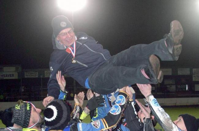 Comets team manager Tony Jackson gets the bumps. Picture by Dave Payne