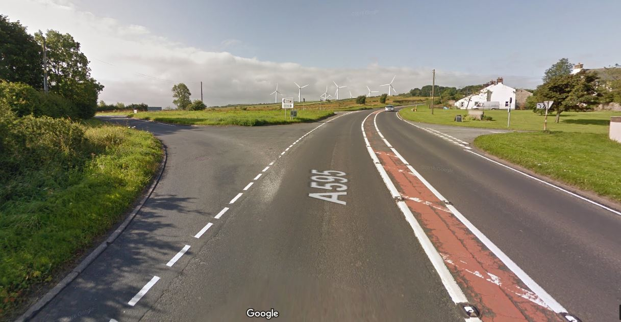 A595/A591 at Bothel       Picture: Google