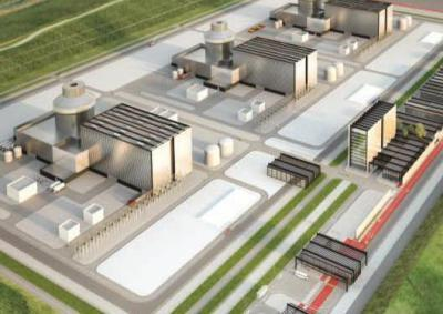 Artist's impression of what new Moorside nuclear power plant could look like
