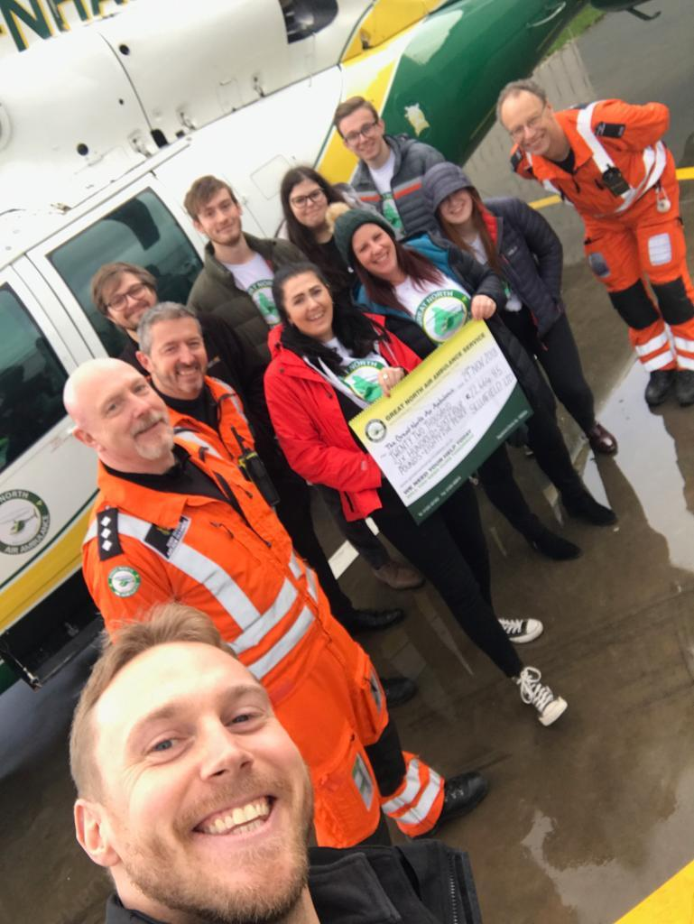 Sellafield Ltd workers have donated £22,000 to the Great North Air Ambulance