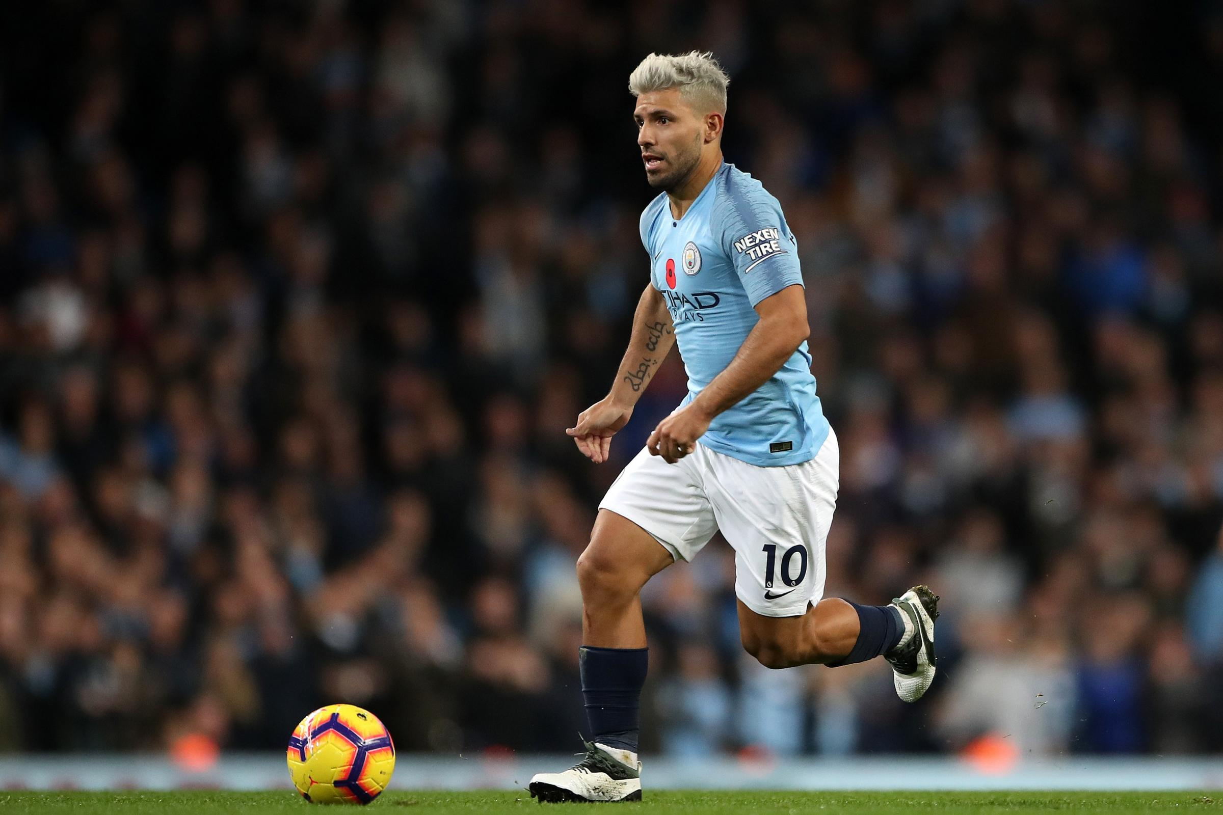 Sergio Aguero will miss Manchester City's trip to Chelsea