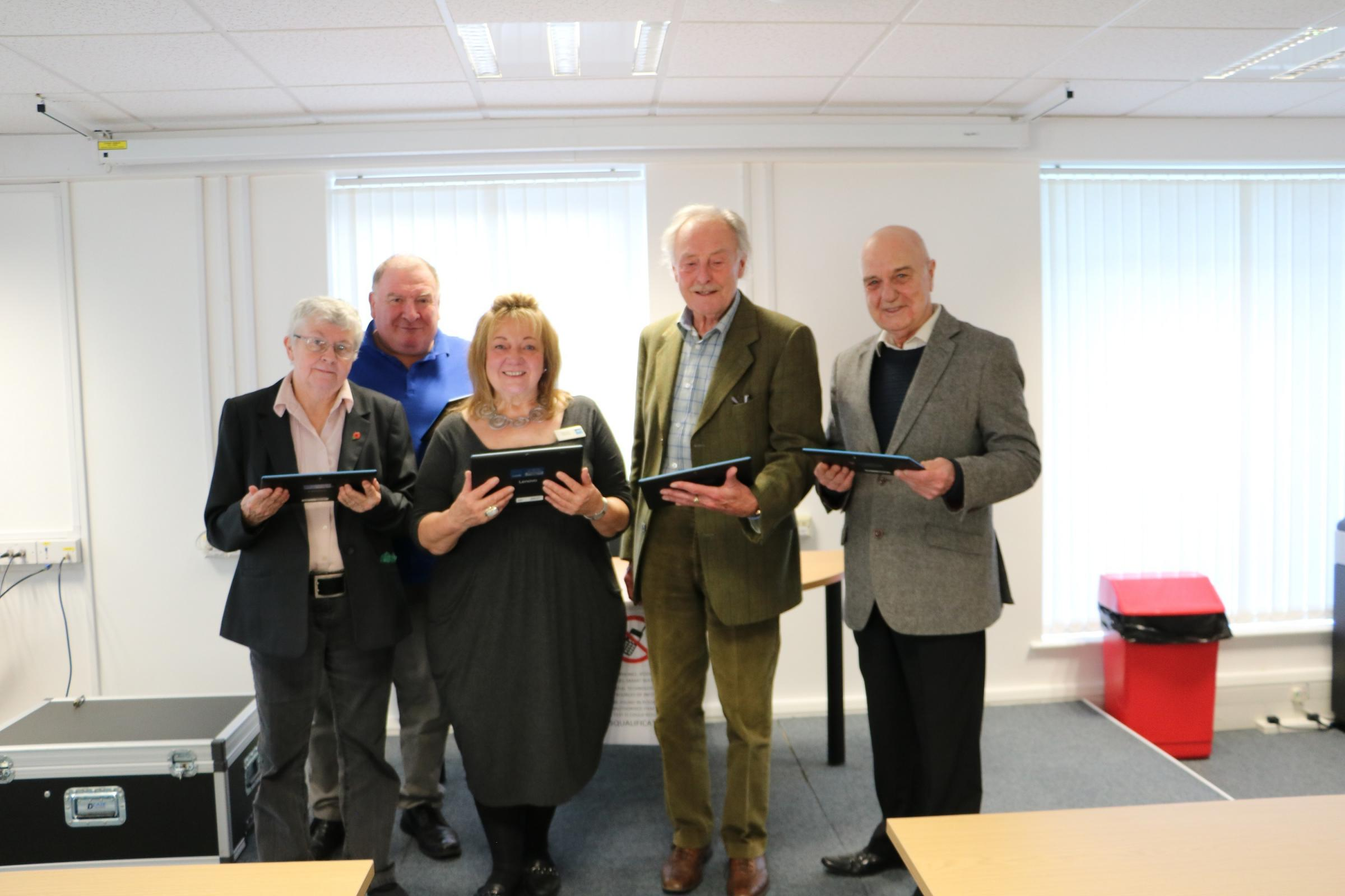 Allerdale councillors, from the left, Angela Kendall, Peter Kendall, Joan Ellis, Ron Munby and Len Davies
