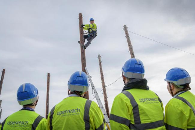 Trainee engineers at Openreach