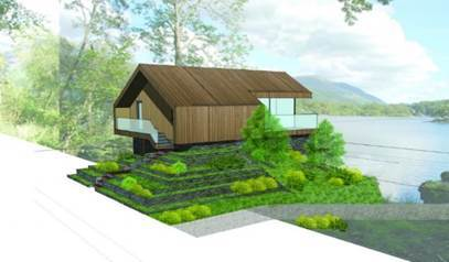 ARTIST'S IMPRESSION: The boathouse at Derwentwater, part of the Lingholm Estate