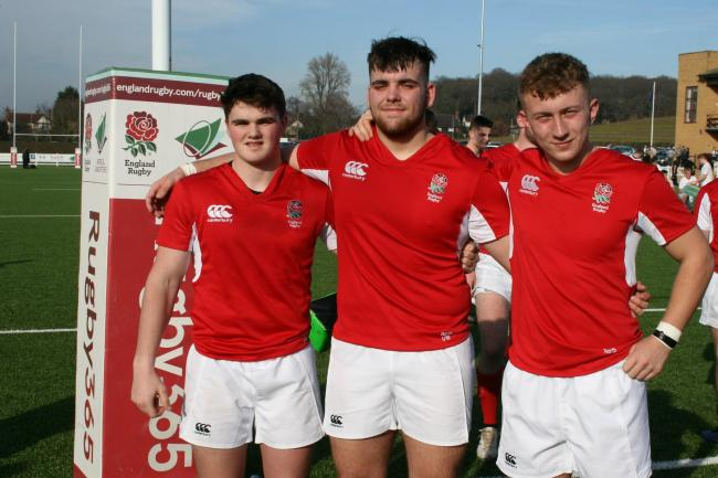 WAITING: Paul Harrison, Nat Mossop and Grant Seward playing for the North of England this weekend